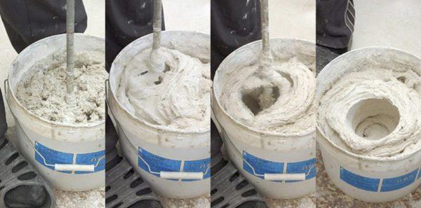 Замешивать тесто с песком можно с помощью миксера
